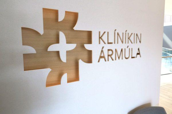 sérsmíðað logo akrýlstein